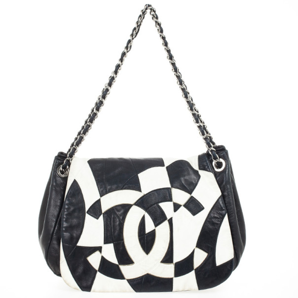 Chanel Black And White Patchwork Soft Flap Bag Nextprev Prevnext