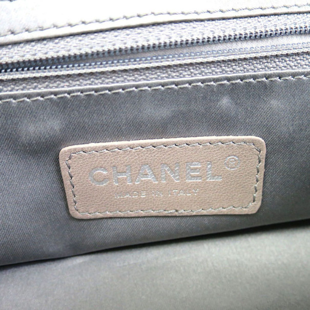 Chanel Black Proferated Leather Small Shoulder Bag