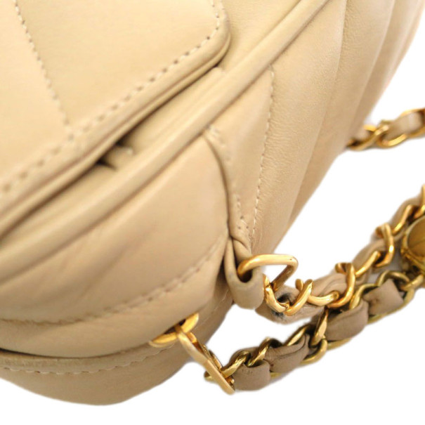 Chanel Beige Lambskin Fringe Small Shoulder Bag