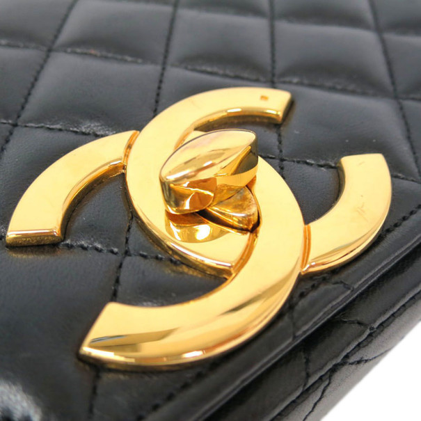 Chanel Black Lambskin Shoulder Flap Bag