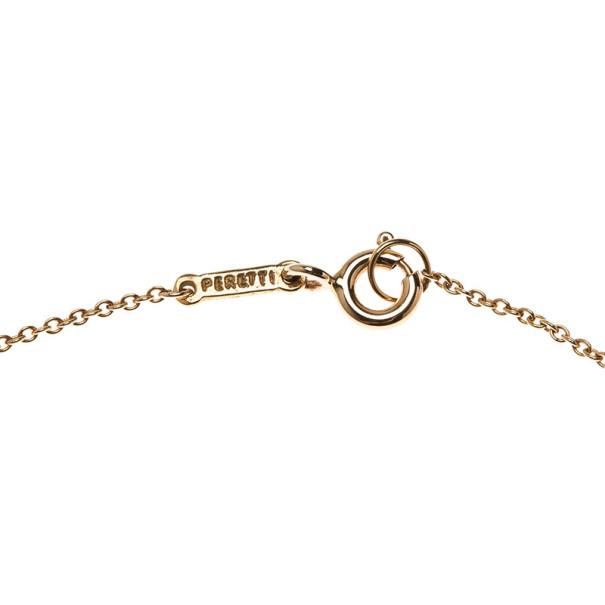 Tiffany & Co. Elsa Peretti Eternal Circle 18K Yellow Gold Pendant Necklace
