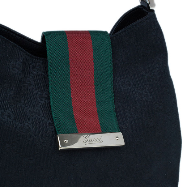 Gucci Black Canvas Ladies Web Pochette