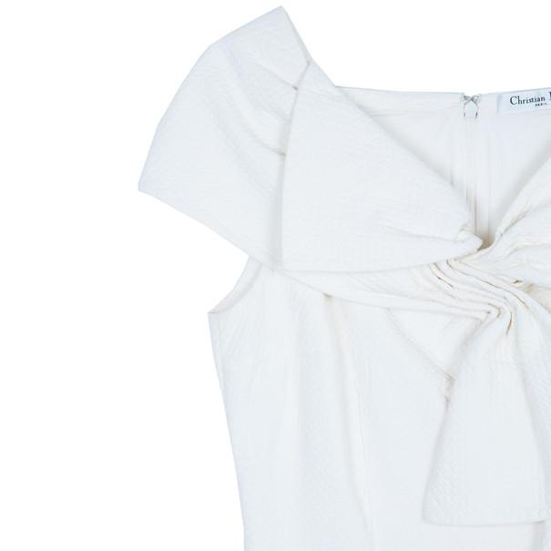 Dior White Off-Shoulder Dress M