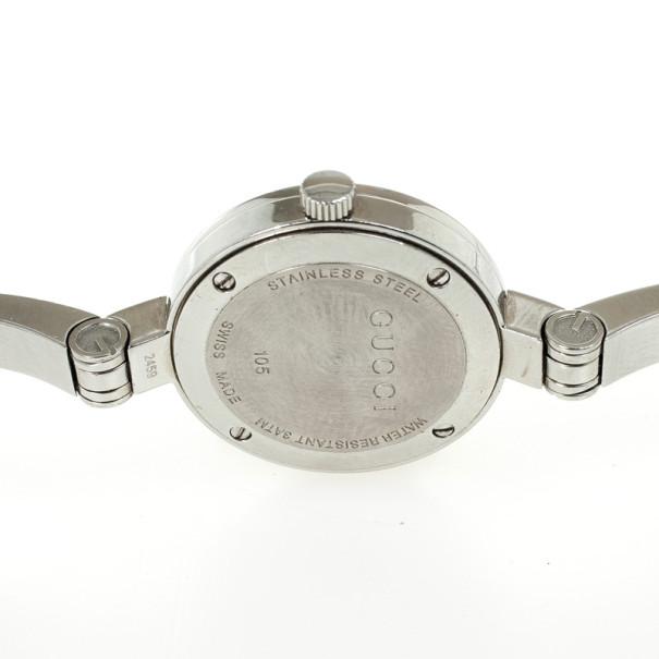 Gucci Flower SS Flower Silver Womens Wristwatch 26 MM