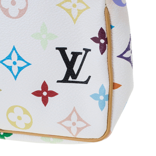 Louis Vuitton White Monogram Multicolore Pochette Accessoires