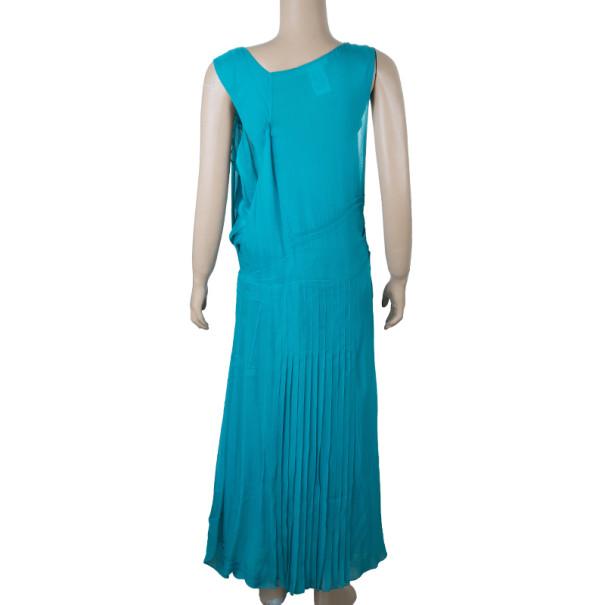 Chloe Turquoise Pleated Dress M