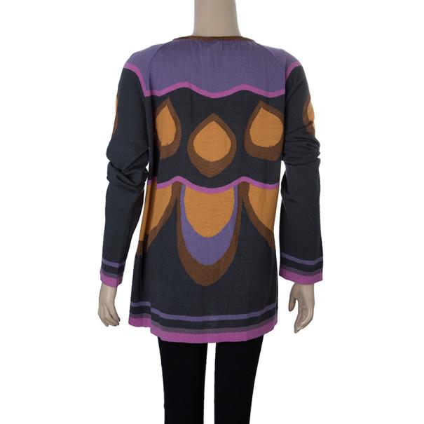M Missoni Black Multicoloured Cardigan L