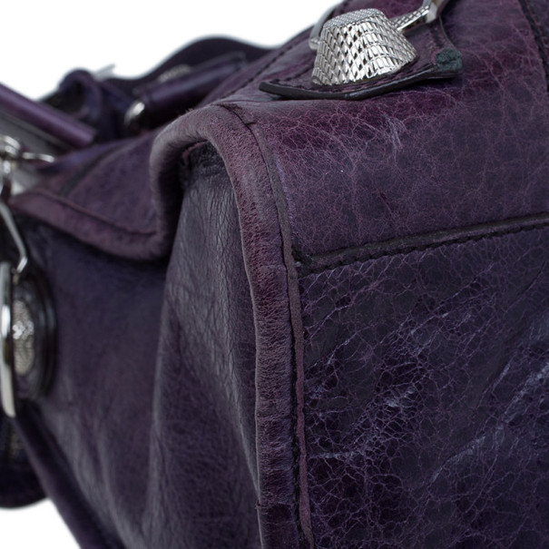Balenciaga Purple Leather Giant City