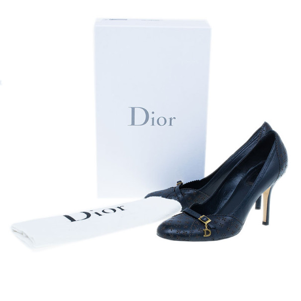 Dior Blue Leather Gypsy Pumps Size 37.5