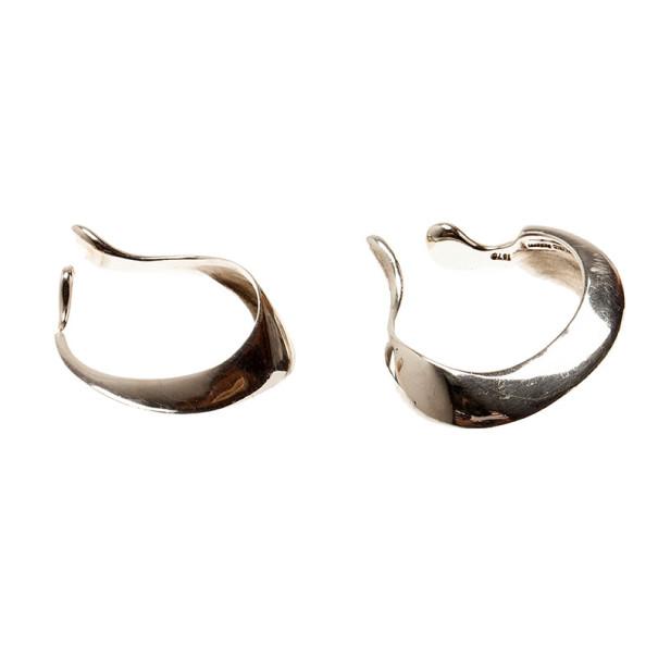 Tiffany & Co. Vintage Peretti Silver Hoop Earrings