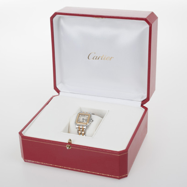 Cartier Panthere 18K Yellow Gold SS Womens Wristwatch 22 MM