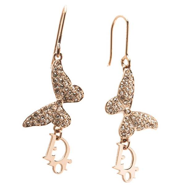 Dior Butterfly Crystal Earrings