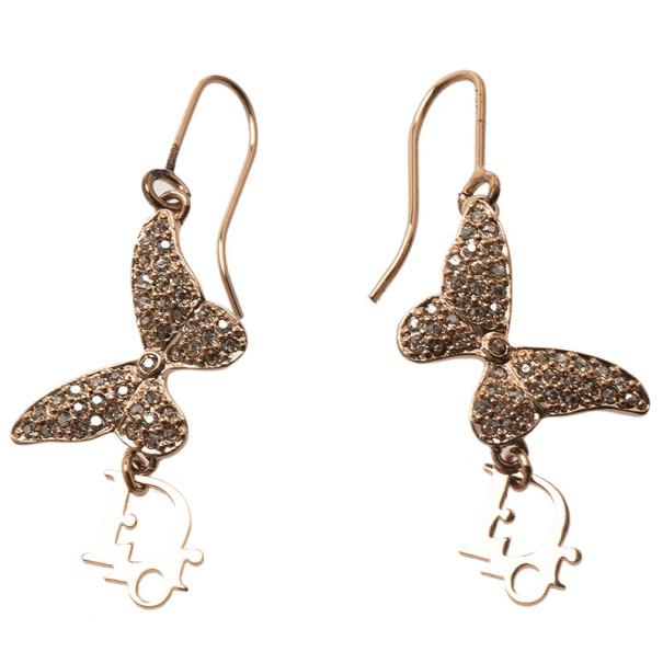 Dior Butterfly Crystal Earrings