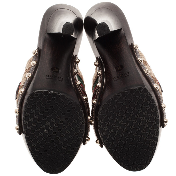 Gucci Guccissima Icon Bit Web Detail Clogs Size 36