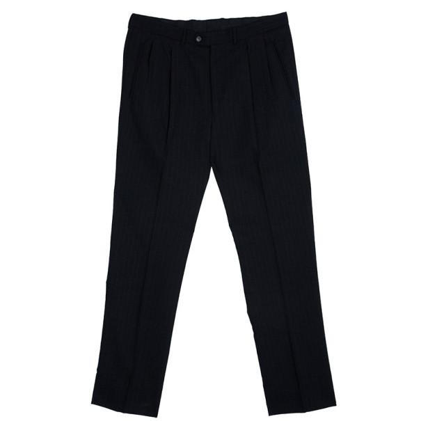 Ermenegildo Zegna Black Pinstripe Suit EU58