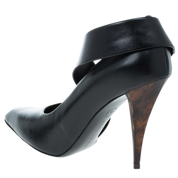 Stella McCartney Black Leather Jodie Pumps Size 36
