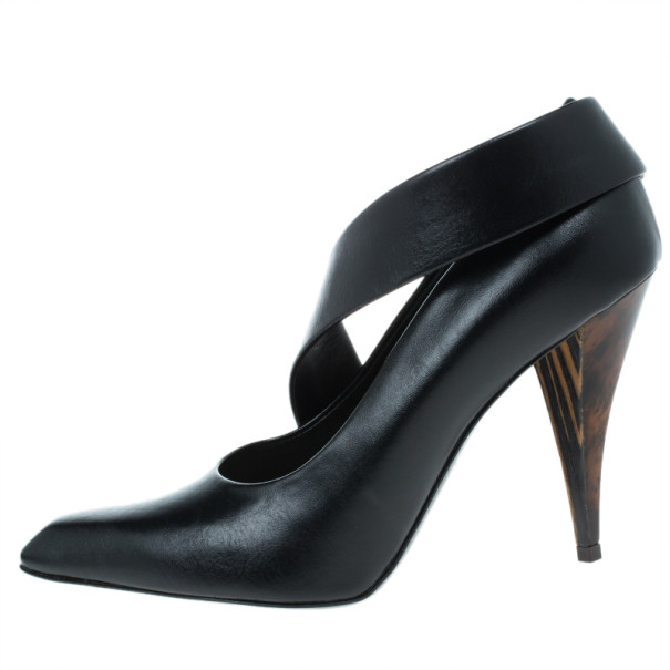 Stella McCartney Black Leather Jodie Pumps Size 36