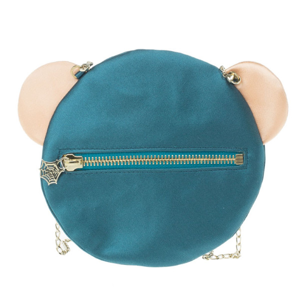 Charlotte Olympia Green Silk Satin Ted Shoulder Bag