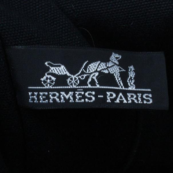 Hermes Black Herline Tote MM