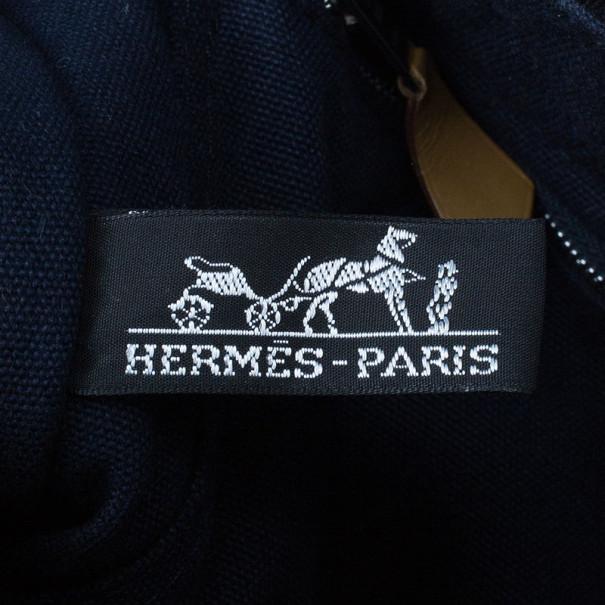 Hermes Navy Blue Herline Tote PM
