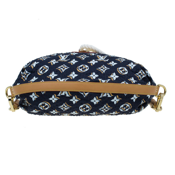 Louis Vuitton Limited Edition Blue Nylon Bulles MM