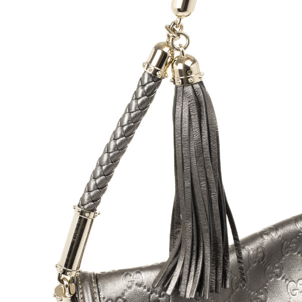 Gucci Metallic Guccissima Bridget Hobo
