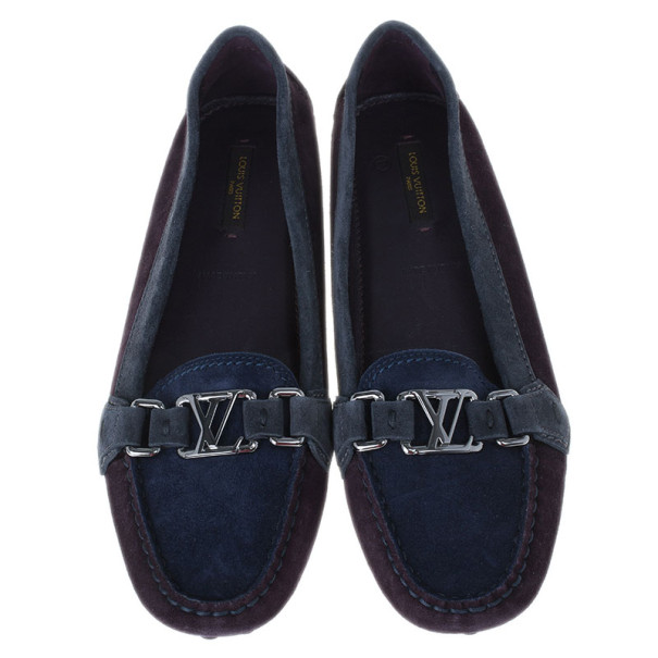 Louis Vuitton Tricolor Oxford Loafers Size 38.5