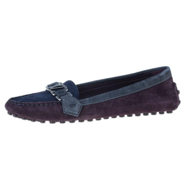 Louis Vuitton Tricolor Oxford Loafers Size 38.5
