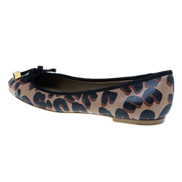 Louis Vuitton Brown Stephen Sprouse Leopard Ballet Flats Size 38
