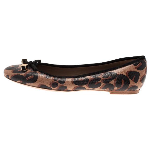 Louis Vuitton Brown Stephen Sprouse Leopard Ballet Flats Size 37.5