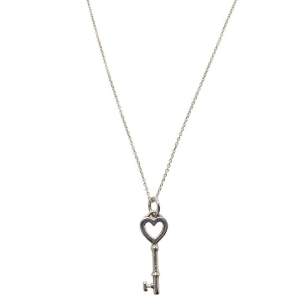Tiffany & Co. Tiffany Keys Heart Key Sterling Silver Pendant