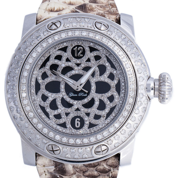 Glam Rock Black Diamond Miami GR10521D Women's Wristwatch 46MM