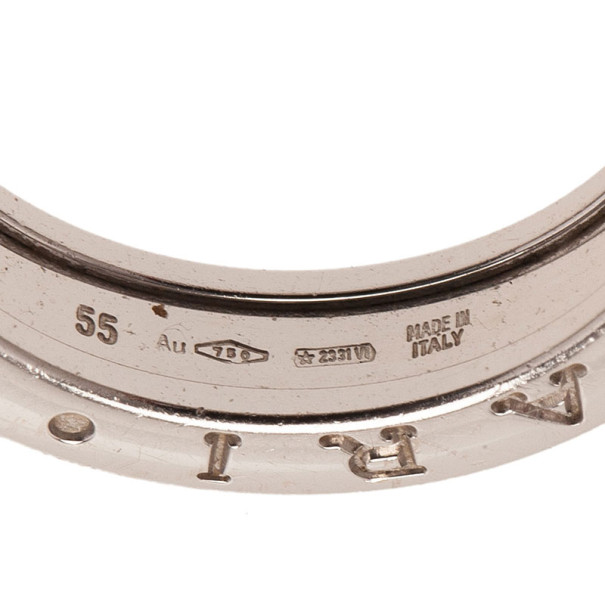 Bvlgari B.Zero1 18K White Gold Ring Size 55