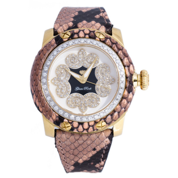 Glam Rock White Gold-Plated Steel Miami GR40416D Women's Wristwatch 40MM