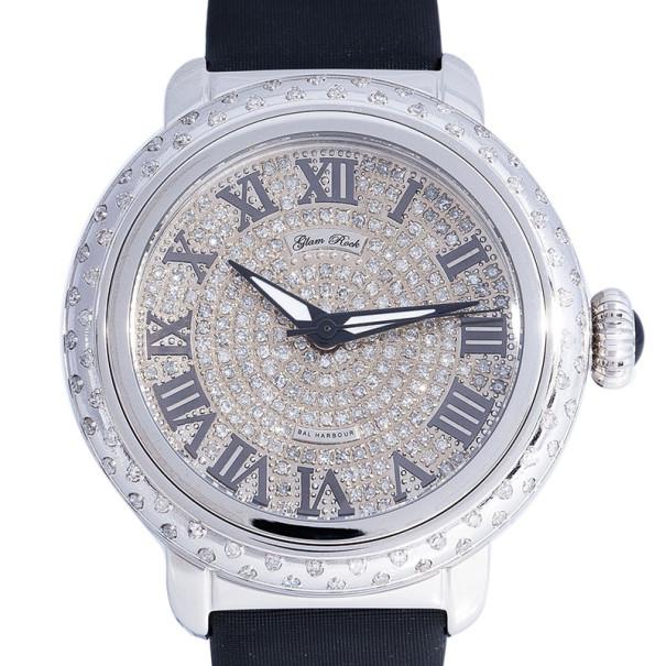 Glam Rock Diamond Stainless Steel Bal Harbour GR77033DSS Women's Wristwatch 40MM