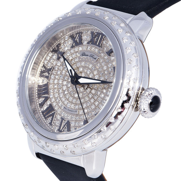 Glam Rock Diamond Stainless Steel Bal Harbour GR77033DSS Women's Wristwatch 40MM