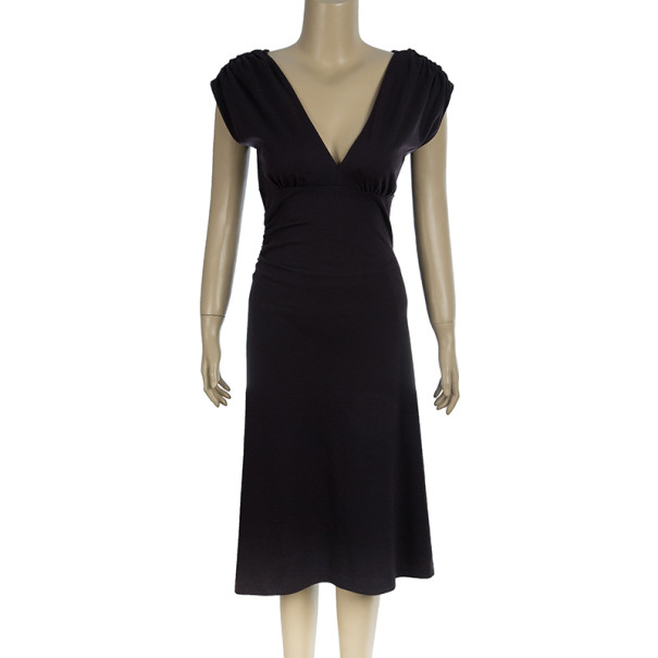 Diane von Furstenberg Purple Knee Length Cotton Mula Dress M
