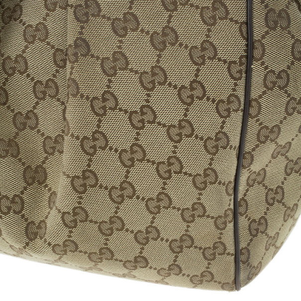 Gucci Beige Monogram Canvas Large Sukey Bag