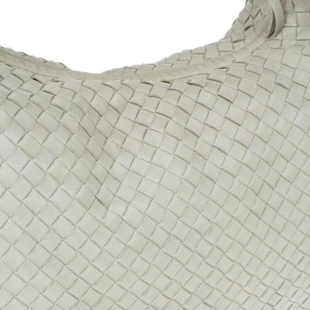 Bottega Veneta Cream Nappa Intrecciato Medium Hobo