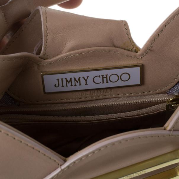 Jimmy Choo Pink Satin and Leather Trim Small Talia Hobo
