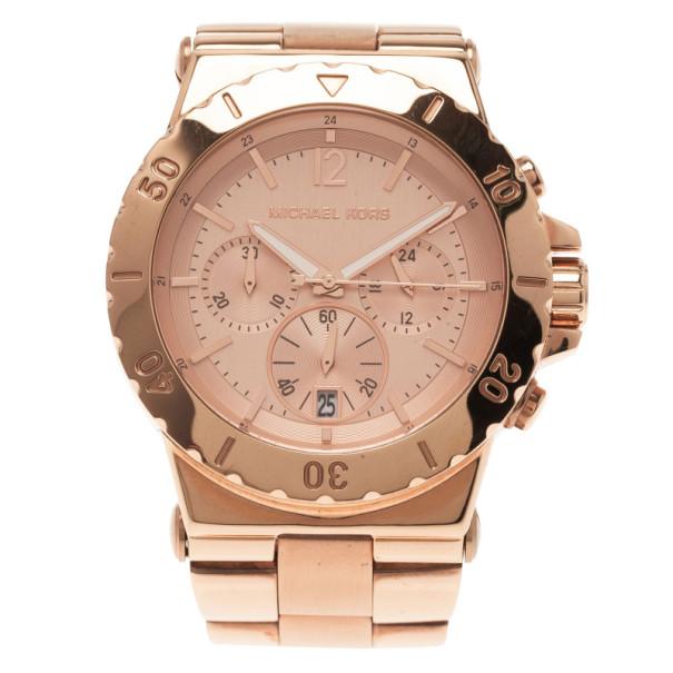 Michael Kors Pink Stainless Steel MK-5314 Women's Wristwatch 42MM
