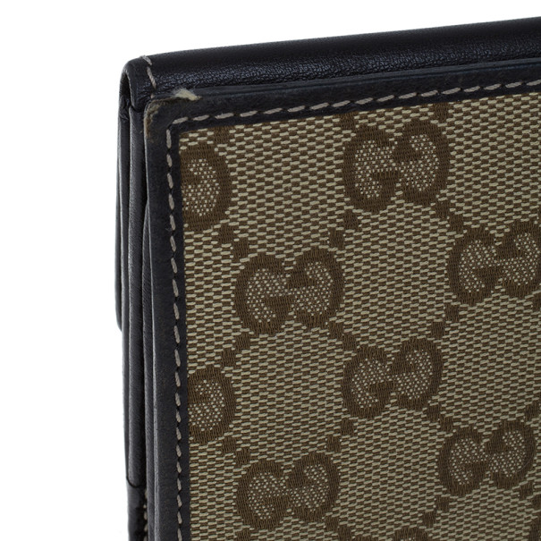 Gucci GG Canvas Heart Continental Wallet