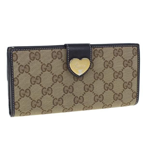 Gucci GG Canvas Heart Continental Wallet