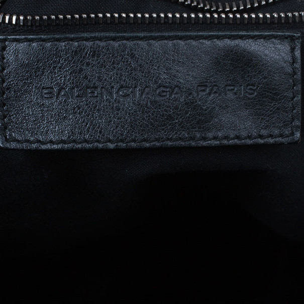 Balenciaga Grey Leather Day Messenger Bag