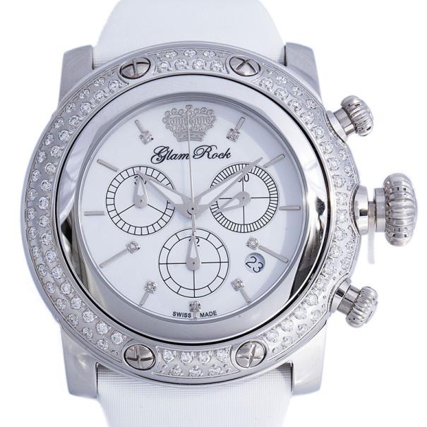 Glam Rock White Stainless Steel Miami GR11131D Women's Wristwatch 46MM