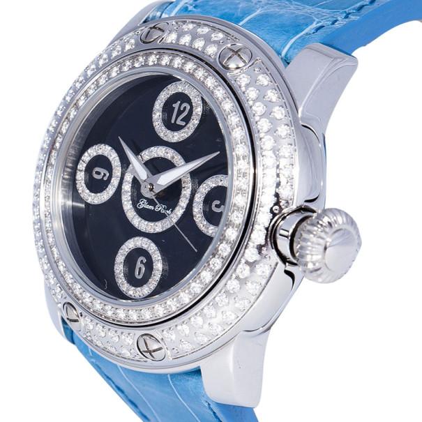 Glam Rock Black Stainless Steel Miami GR10527D Women's Wristwatch 46MM