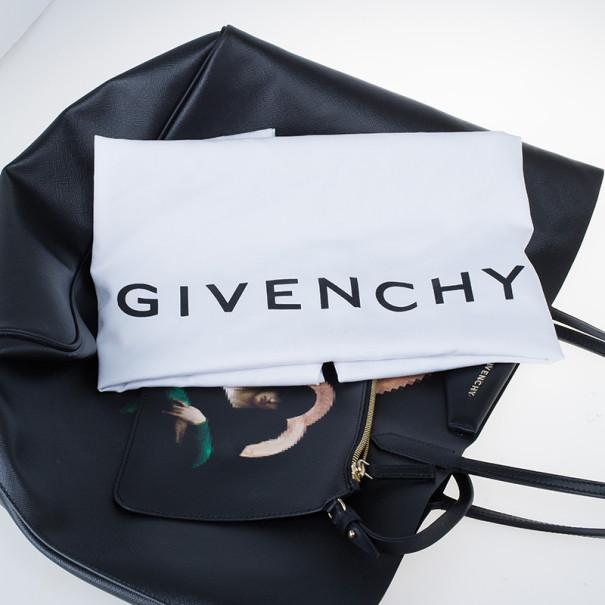 Givenchy Black Canvas Madonna Print Shopper