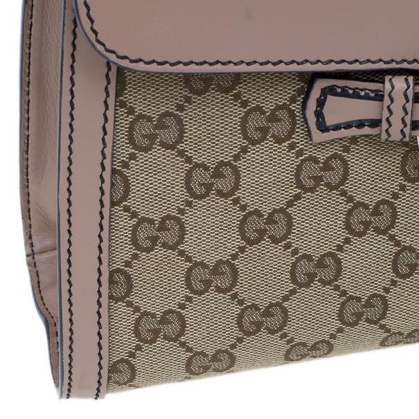 Gucci Beige Monogram Emily Chain Medium Shoulder Bag