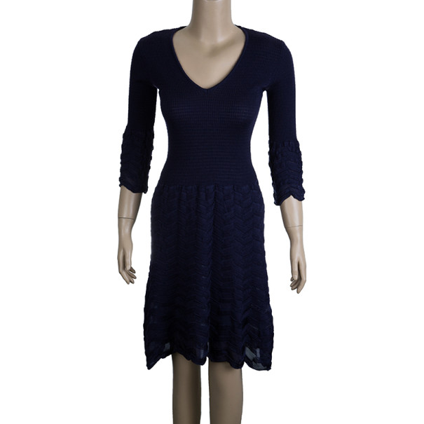 M Missoni Purple Knit Dress M