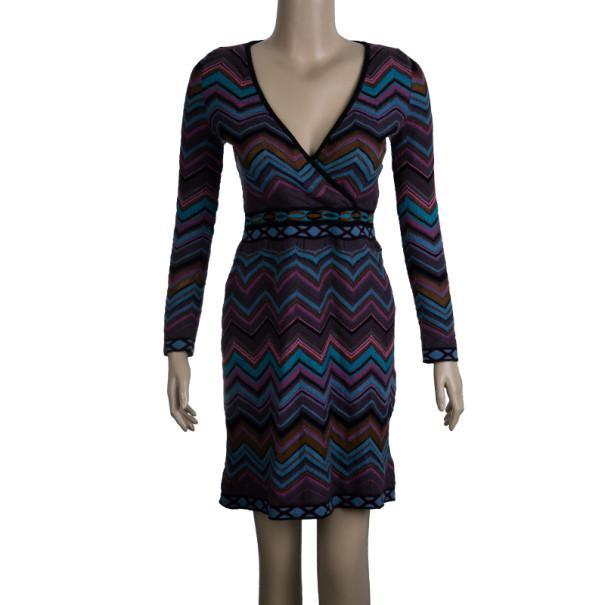 M Missoni Wool Blend Zig Zag Print Dress M